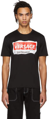 Versace Black Tabloid T-Shirt