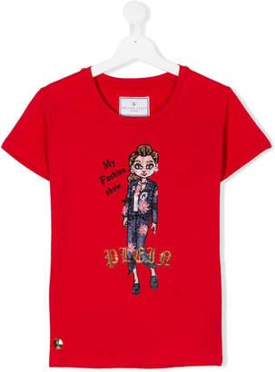 Philipp Plein Junior TEEN My Fashion Show diamante T-shirt