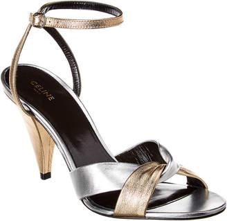Celine Triangle Heel Leather Sandal