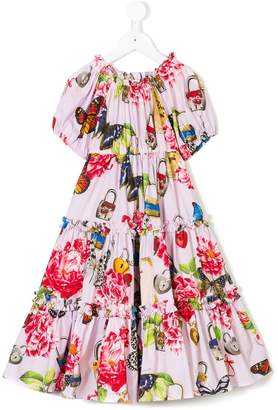 Dolce & Gabbana printed ruffled dress