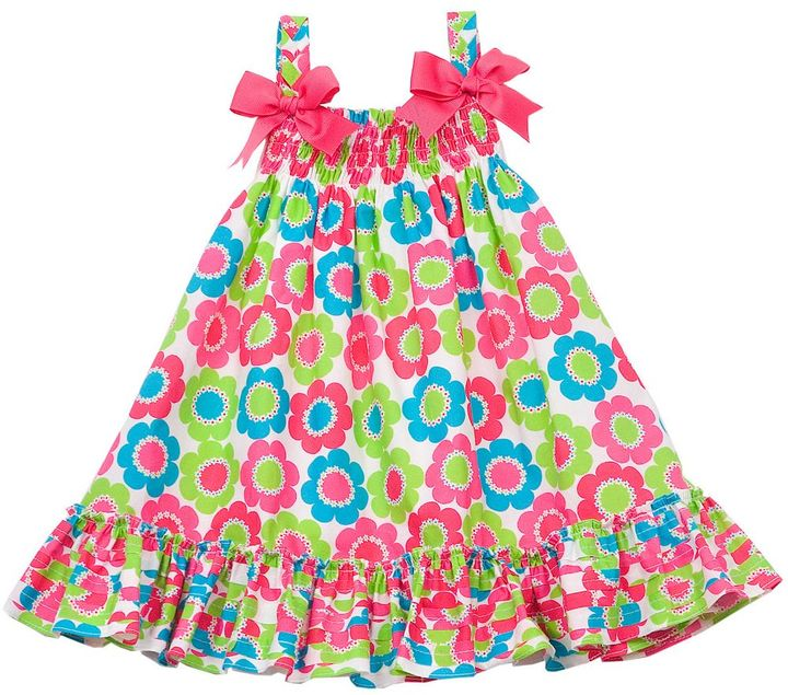 Rare Editions floral smocked sundress - toddler