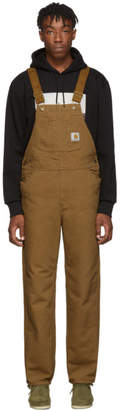 Carhartt Work In Progress Brown Rinsed Bib Overall