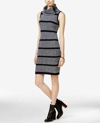 Tommy Hilfiger Carmen Striped Cowl-Neck Sweater Dress $98.50 thestylecure.com