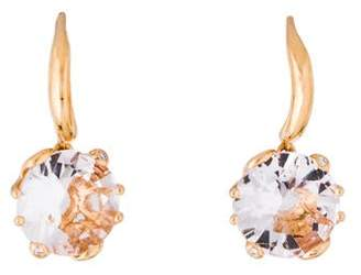 Christian Dior 18K Morganite & Diamond Oui Drop Earrings