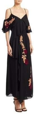 Peserico Lorena Embellished Silk Maxi Dress