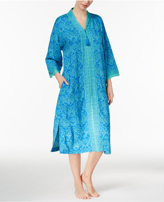 Charter Club Mixed-Print Long Caftan, Only at Macy's $59.50 thestylecure.com
