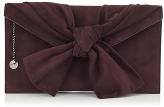 Jimmy Choo RIVA Burgundy Suede Clutch Bag