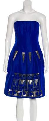 Oscar de la Renta Embellished Cocktail Dress