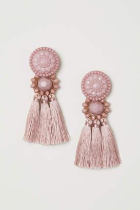 H&M Tasseled Earrings - Natural white - Women