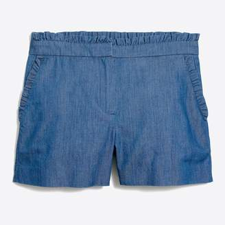 J.Crew Factory Chambray ruffle short