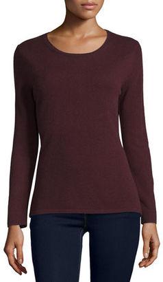 Neiman Marcus Cashmere Collection Modern Cashmere Crewneck Sweater $157 thestylecure.com