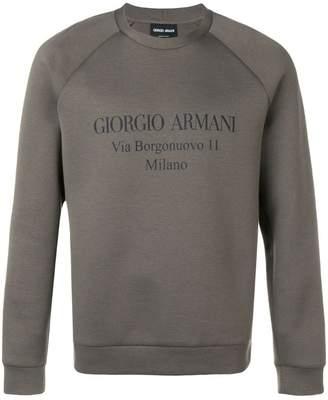 Giorgio Armani logo print sweatshirt