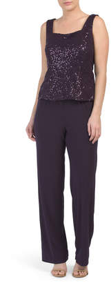 Pantsuit With Sequin Top