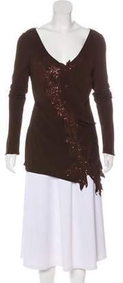 Yigal Azrouel Long Sleeve Embellished Top