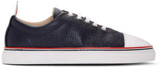 Thom Browne Navy Straight Toe Cap Sneakers