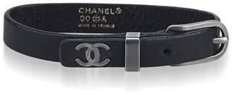 Chanel Vintage Leather Bracelet