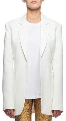 Victoria Beckham Notched-Lapel Oversized Open-Front Long Jacket