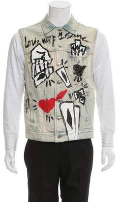 Faith Connexion Graffiti Joker Print Vest