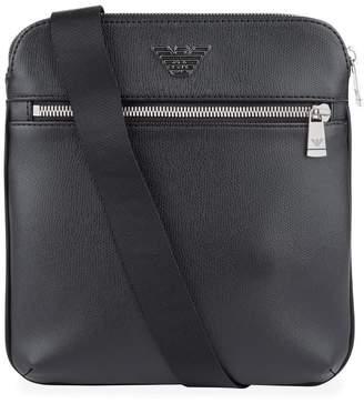 Emporio Armani Leather Messenger Bag