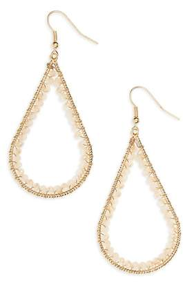 Panacea 14K Gold Plated Open Teardrop Earrings