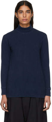 Blue Blue Japan Blue Slub Cotton Turtleneck