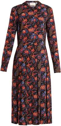 LA DOUBLEJ EDITIONS Chemisier floral-print shirtdress