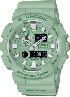 G-Shock Men's Analog-Digital Light Green Resin Strap Watch 51.2mm
