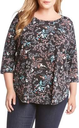 Karen Kane Floral Shirttail Top