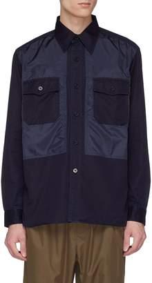 Nanamica Contrast front panel chest pocket shirt