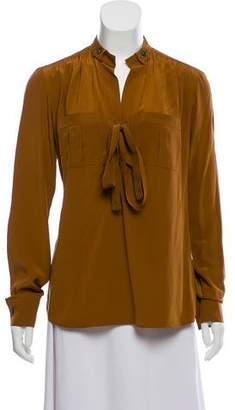 Derek Lam Long Sleeve Mock Neck Top