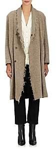 Pas De Calais Women's Frayed Wool-Blend Coat - Beige, Tan