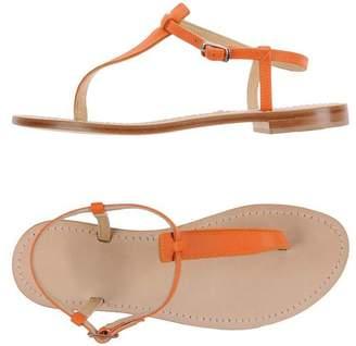 GIALLO POSITANO Toe post sandal