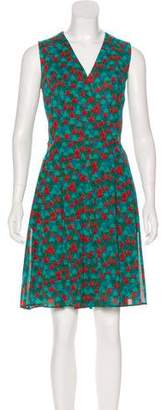 Akris Printed Sleeveless Mini Dress