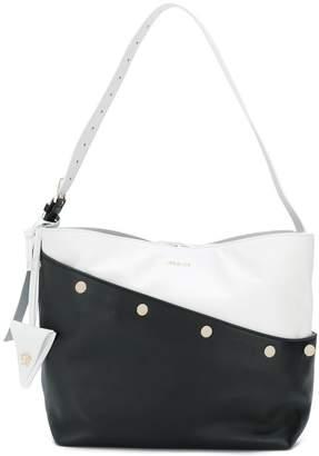 Versace two-tone logo shoulder bag