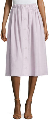 ABS by Allen Schwartz Women's Cotton Textured A Line Skirt