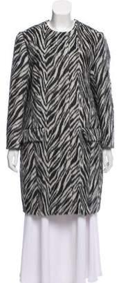 Etro Zebra Print Alpaca coat