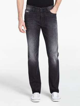 Calvin Klein slim straight burnout black jeans
