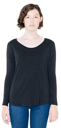 American Apparel Women's Long Sleeve Ultra Wash Tee $14.23 thestylecure.com