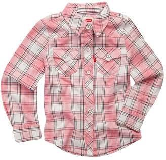 Levi's Levis Toddler Girl Plaid Button Front Shirt