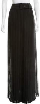 Alberta Ferretti Pleated Silk Skirt w/ Tags