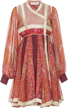 Etro Wrap Front Mini Dress