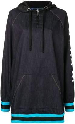 NO KA 'OI No Ka' Oi printed sleeve zip hoodie dress