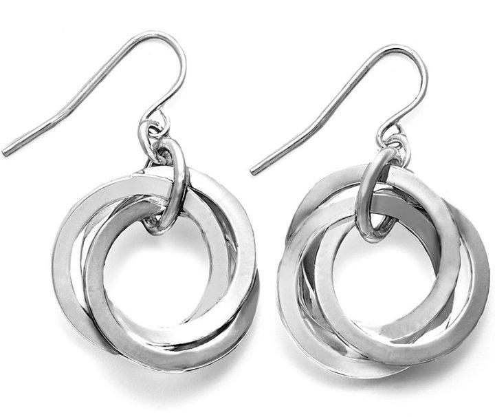 Lauren Ralph Lauren Silver-Tone Circle Link Earrings