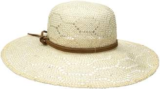 Ale By Alessandra 'Ale By Alessandra 'ale by alessandra Women's Paloma Sisal Straw Hat with Leather Trim