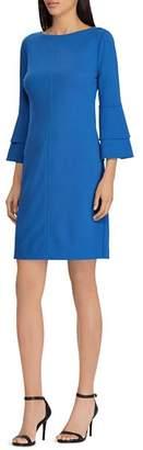 Ralph Lauren Bell-Sleeve Crepe Dress