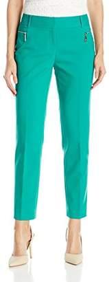 Chaus Women's Zipper Pocket Ankle Length Pant