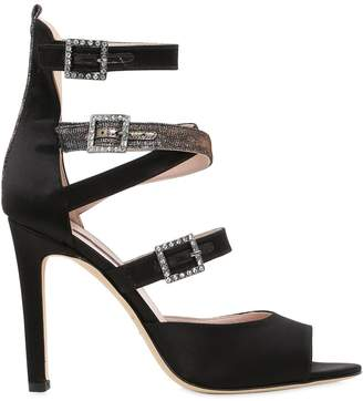 Sarah Jessica Parker 100mm Fugue Strappy Satin Sandals