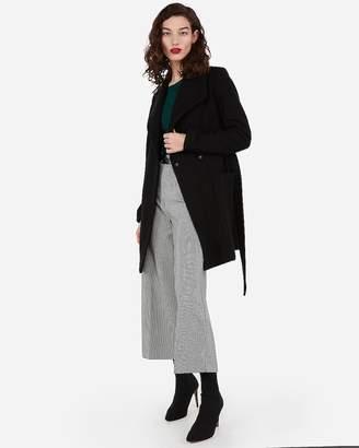 Express Belted Wool-Blend Wrap Coat