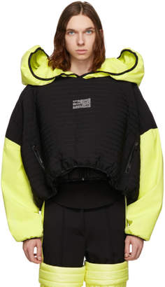 Colmar A.G.E. by Shayne Oliver Black and Yellow Villa Ski Hoodie