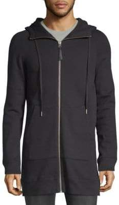 Helmut Lang Long Cotton Zip-Up Hoodie